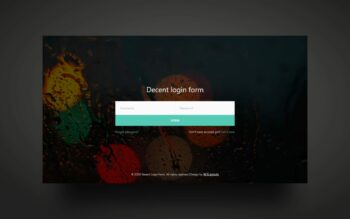 decent Login form web element