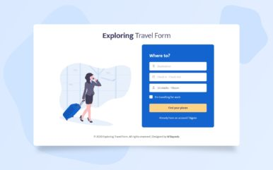 Exploring Travel Form Web Element