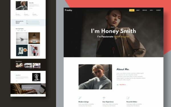 freaky website template