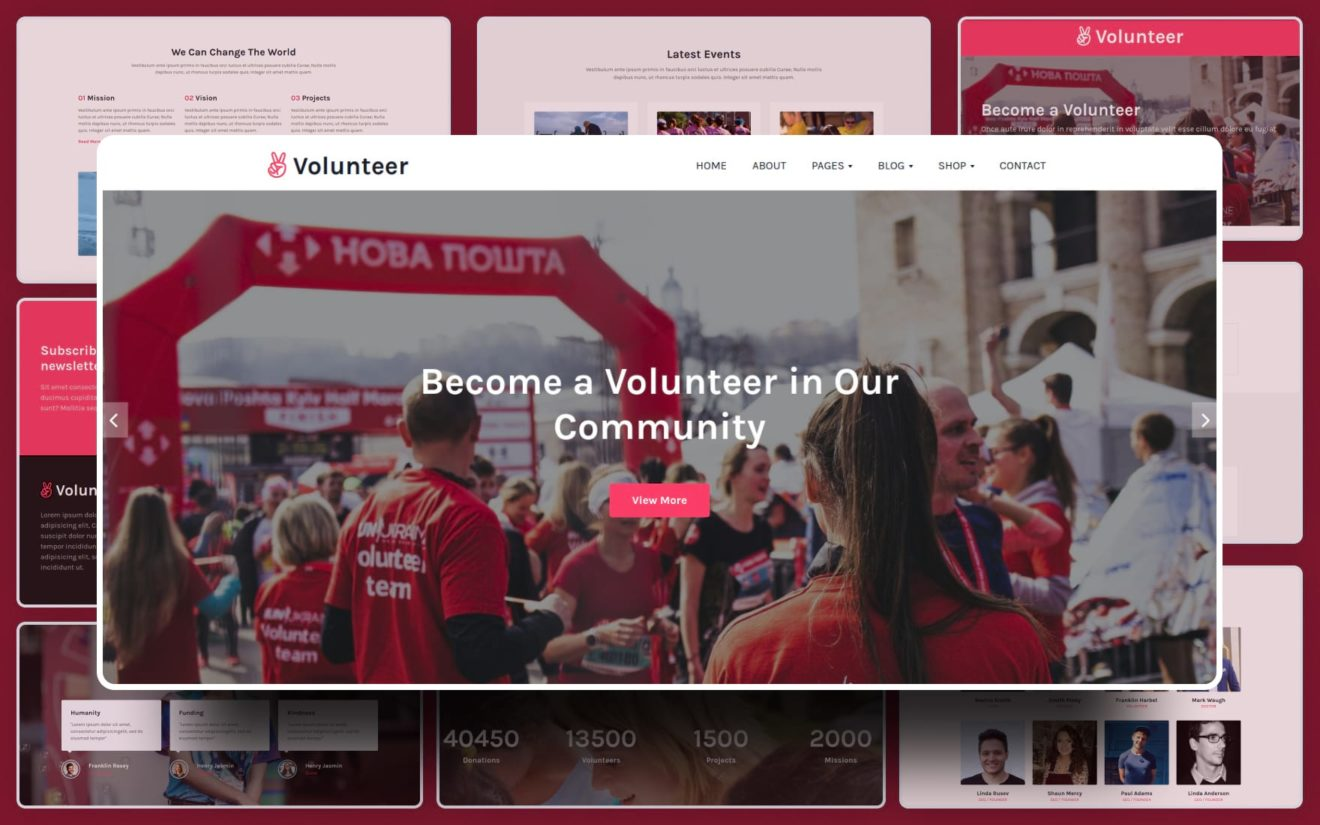 Volunteer Website Template