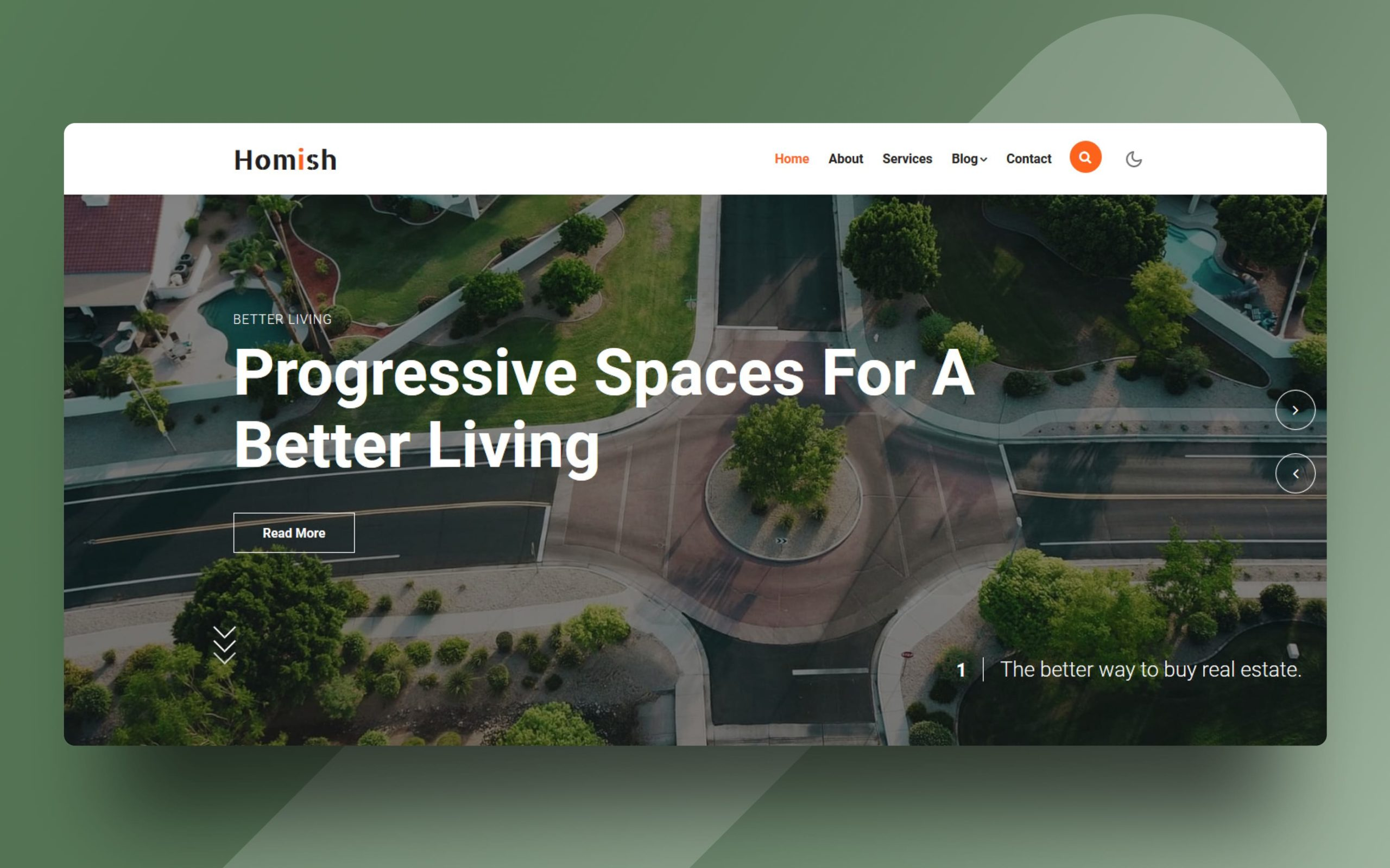 Homish Website Template
