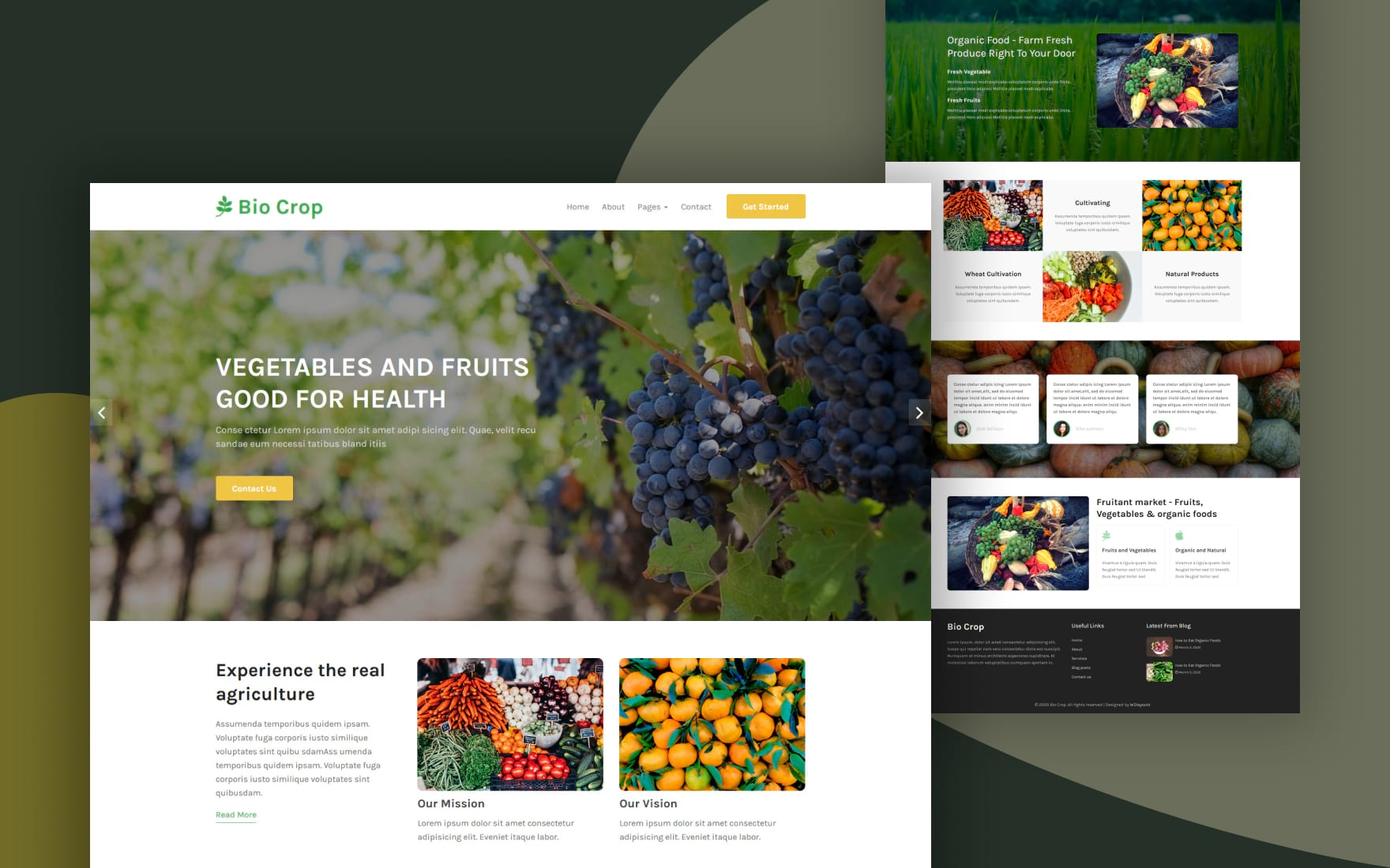 bio corp website template