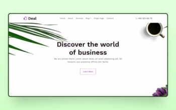 deal website template