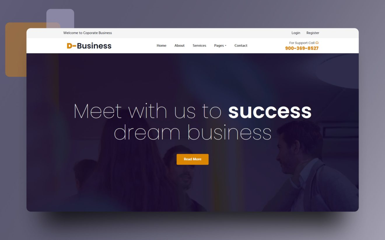 Dream Business Website Template