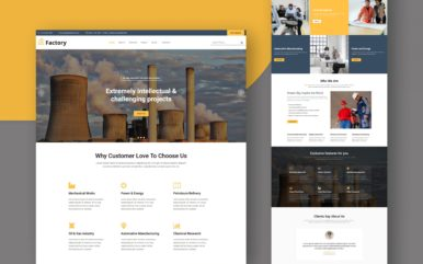 factory website template
