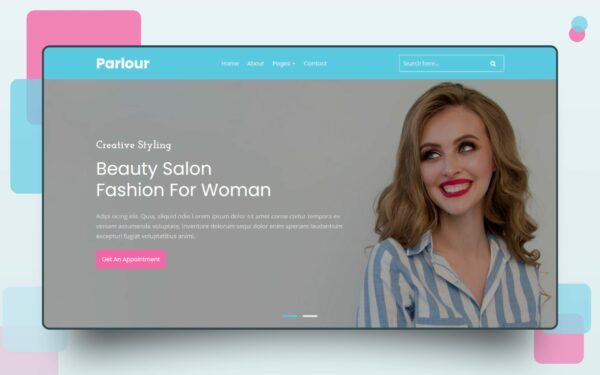 fashion parlour website template