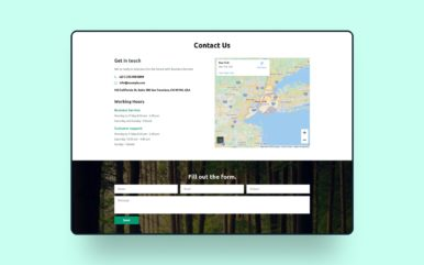 Glassy Contact Form Web Element