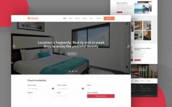 hotels website template