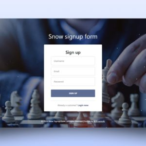 snow signup form