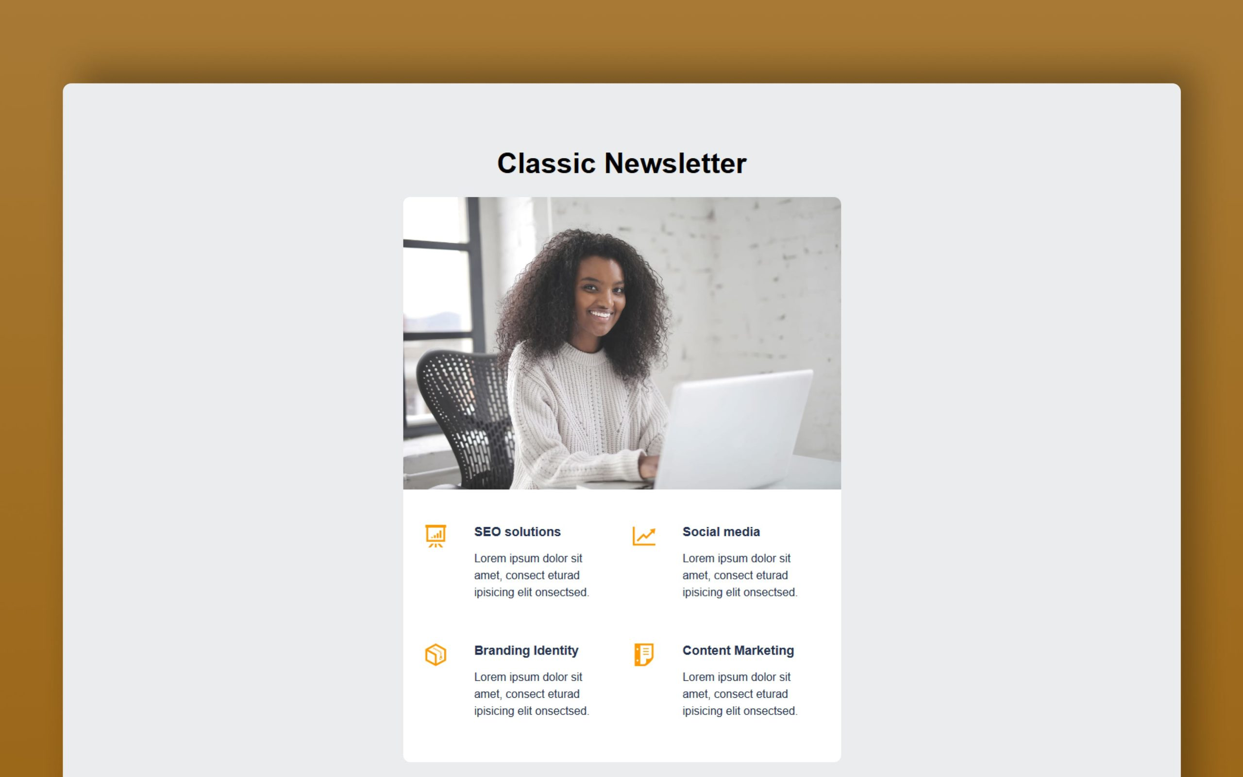 classic newsletter website template