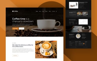 coffee website template