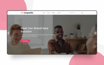 corporite website template