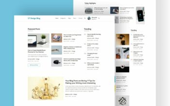 design blog website template
