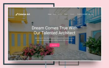 exterior art website template