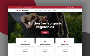 Farm Planning Website Template