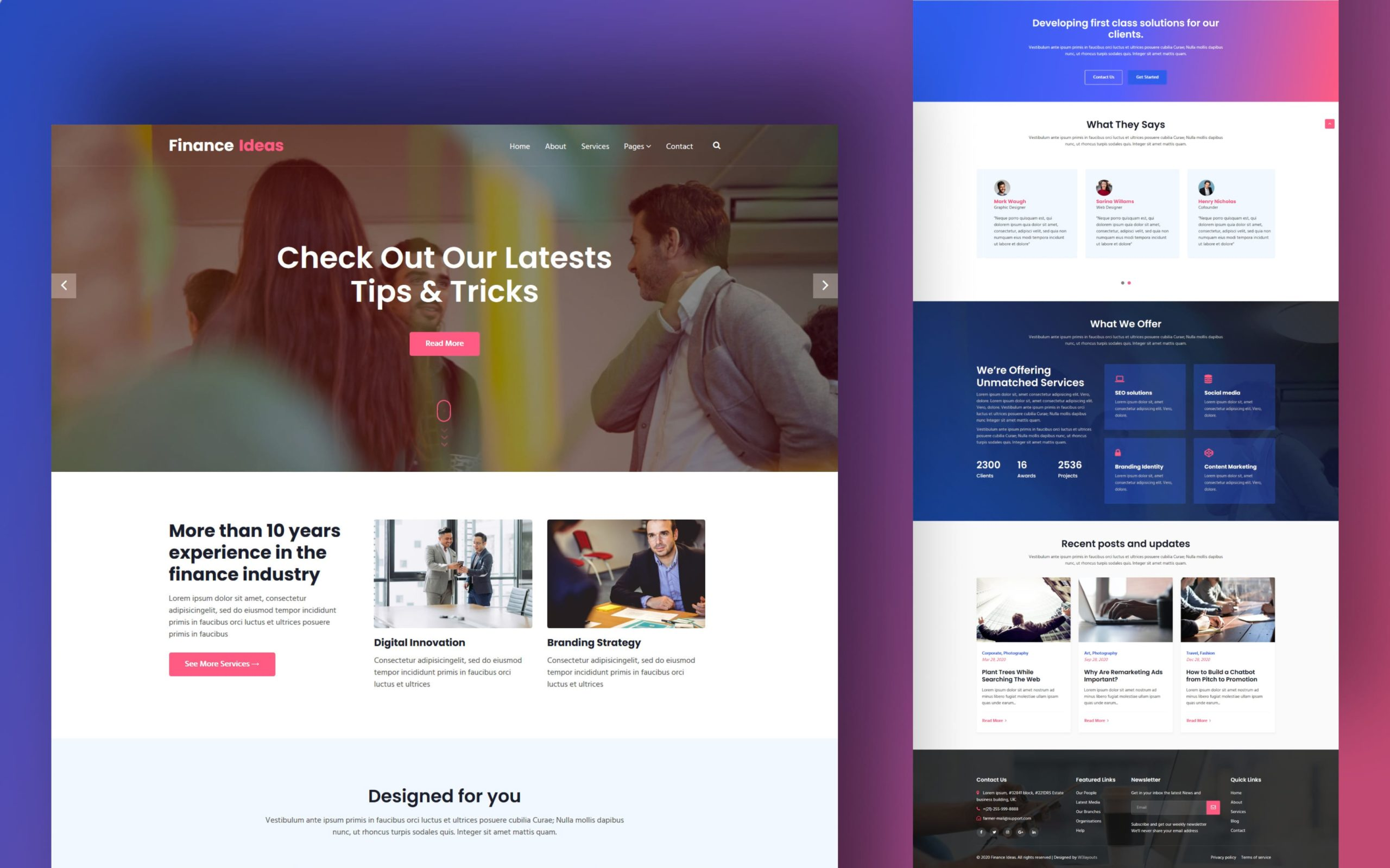 Finance Ideas Website Template
