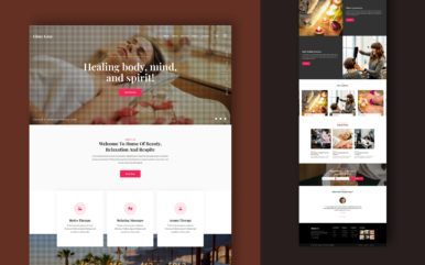 Glory Luxe Website Template