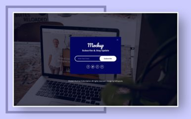 Mockup Subscription Form Web Element