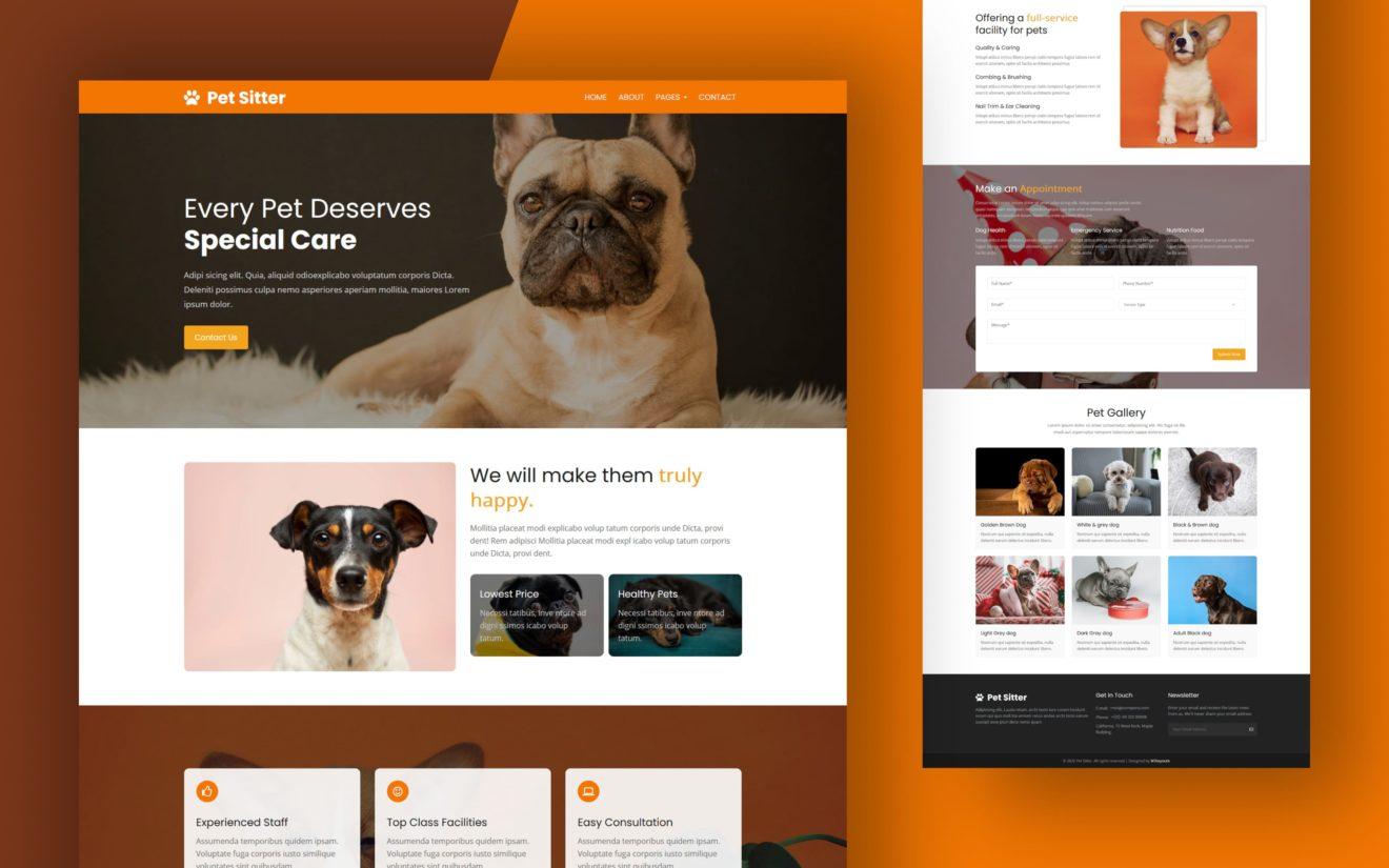 Pet Sitter Website Template