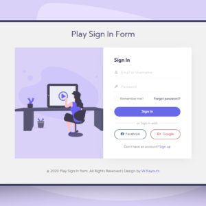 play signin form