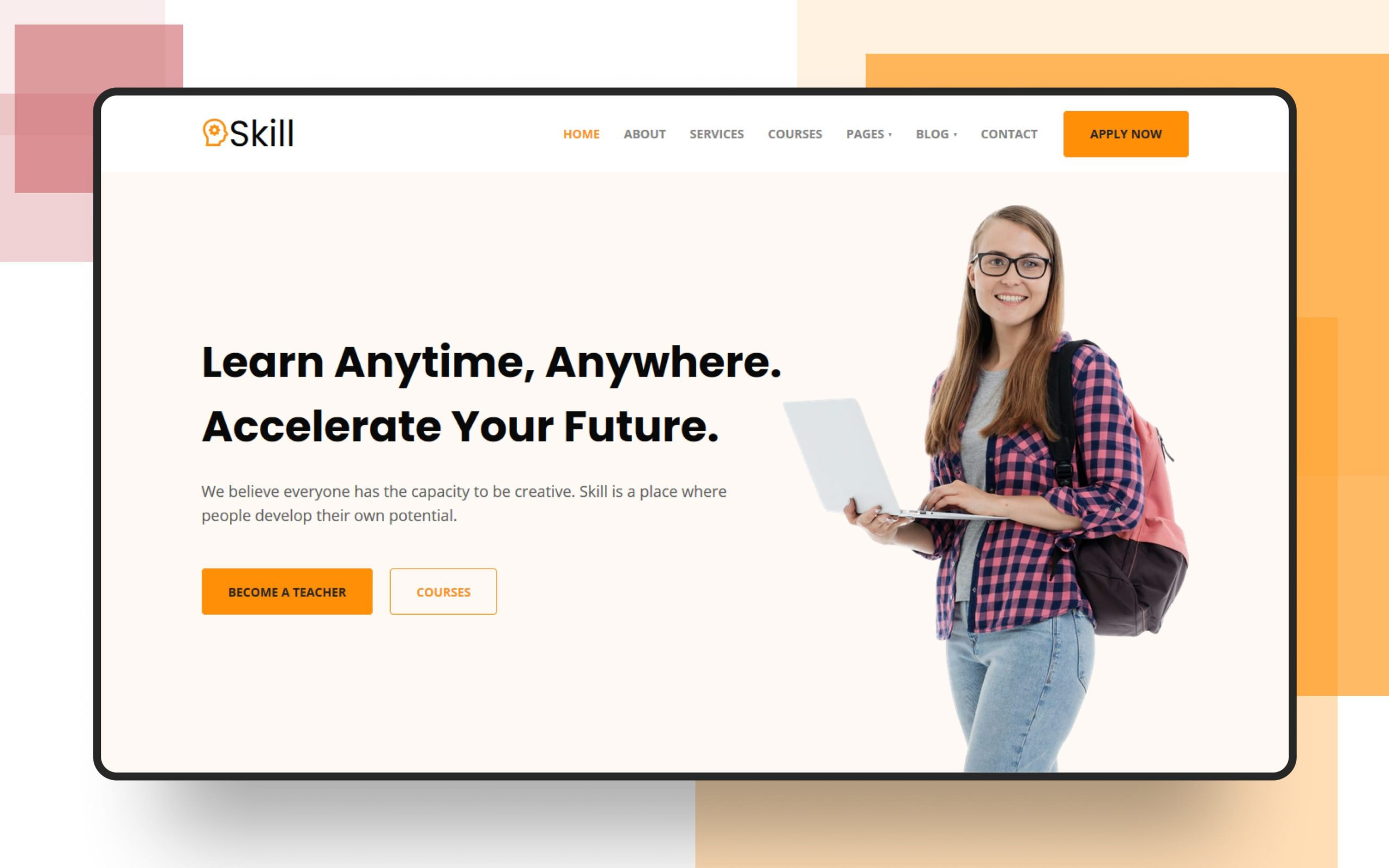 Skill Website Template