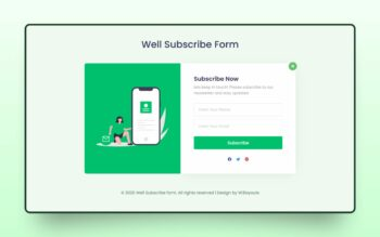 well subscribe form
