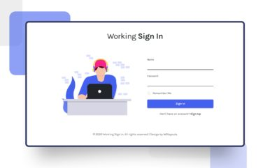 Working Sign-in Form Web Element
