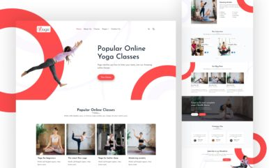 yogic website template