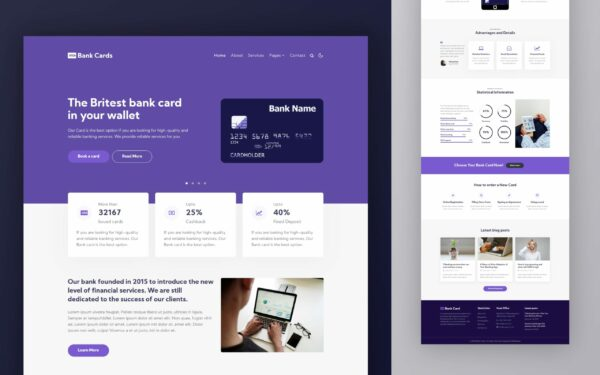 Bank Cards Website Template