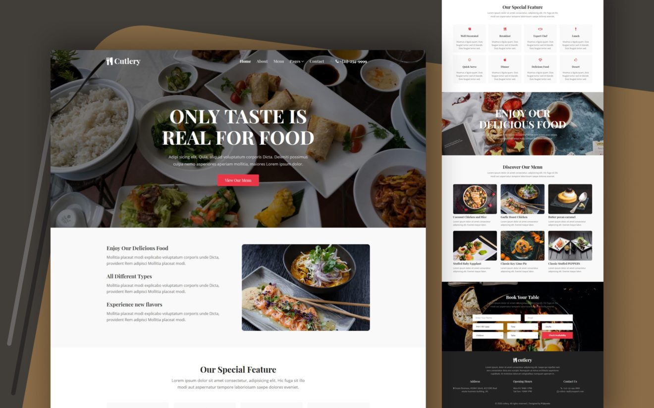 Cutlery Website Template