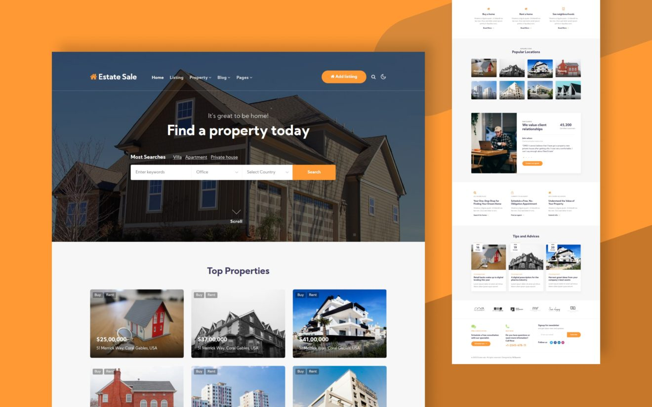 Estate Sale Website Template
