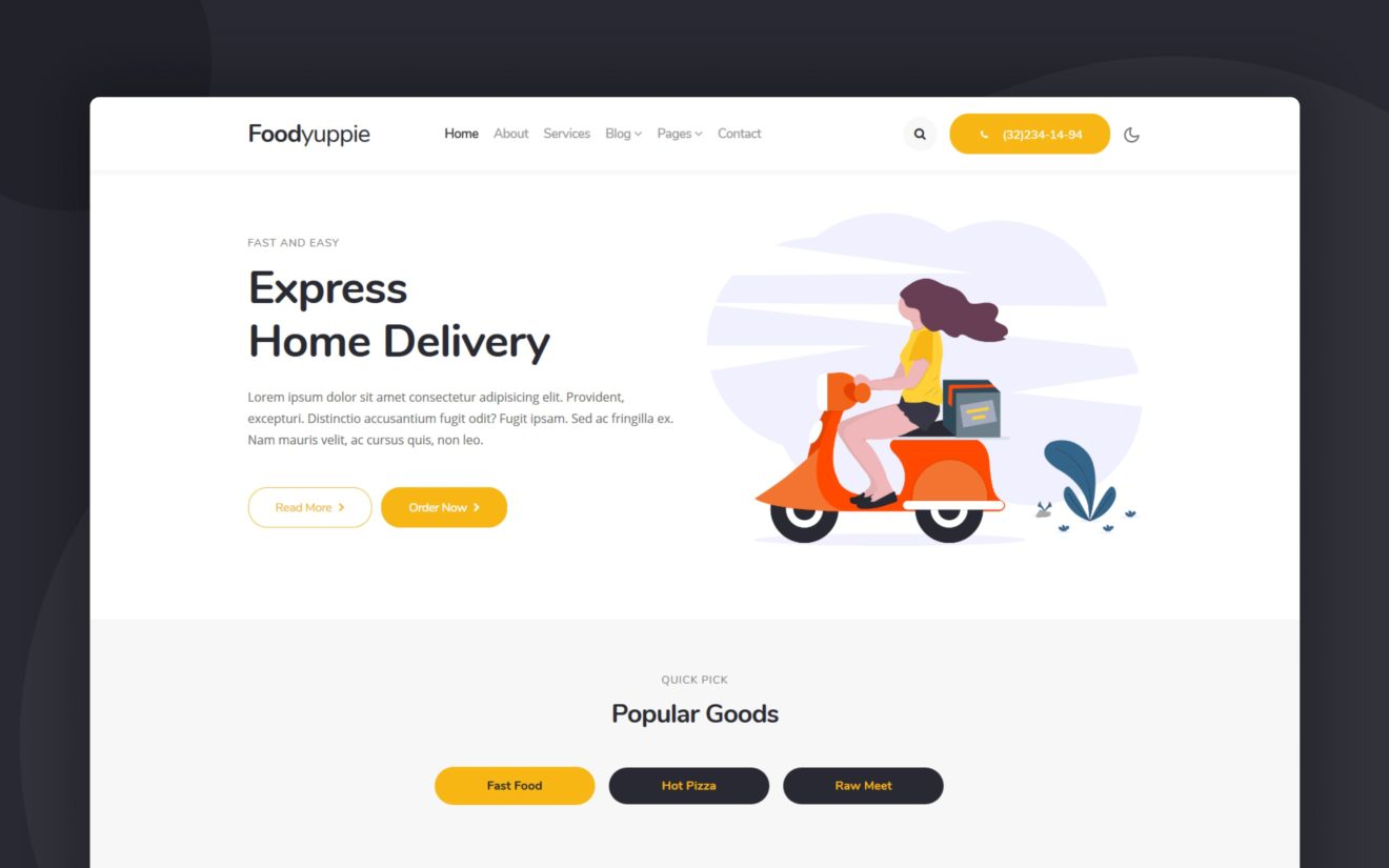 Foodyuppie Website Template