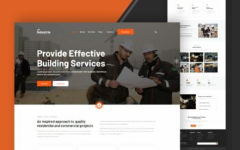 industrie website template