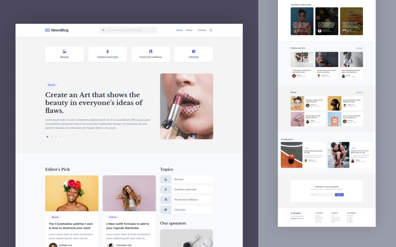 News Blog Website Template