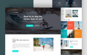 windsurf website template
