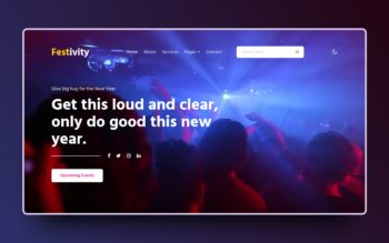 festivity website template