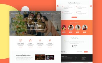 happy events website template