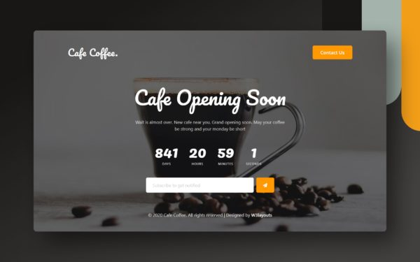 cafe coffee web element