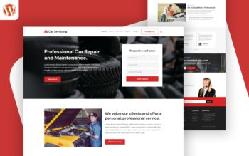 car servicing WordPress Theme