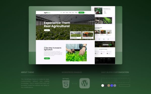 agricfarm wordpress theme