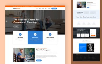 CleanFreshly Website Template