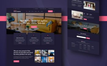 Home Interior Website Template