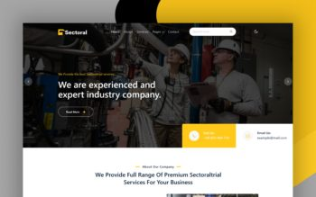 Sectoral Website Template