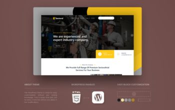Sectoral WordPress Theme