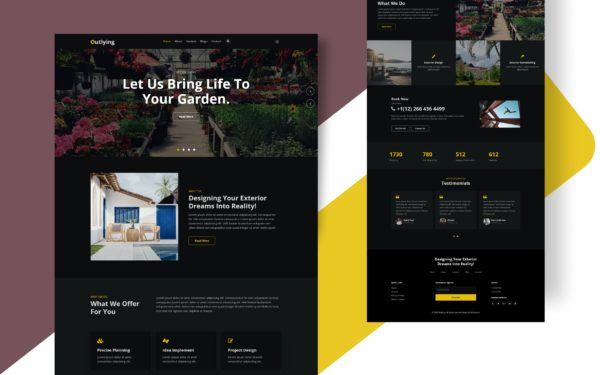 Outlying Website Template