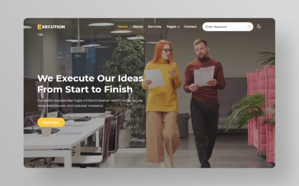 Execution Educational Website Template