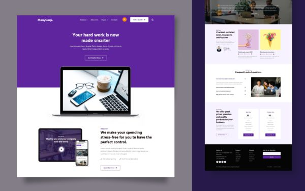 ManyCorp Website Template