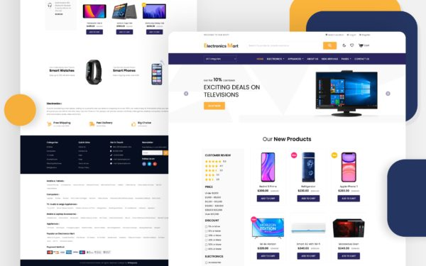 Electronics Mart an Electronic eCommerce website template