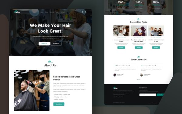 Atelier a fashion category website template