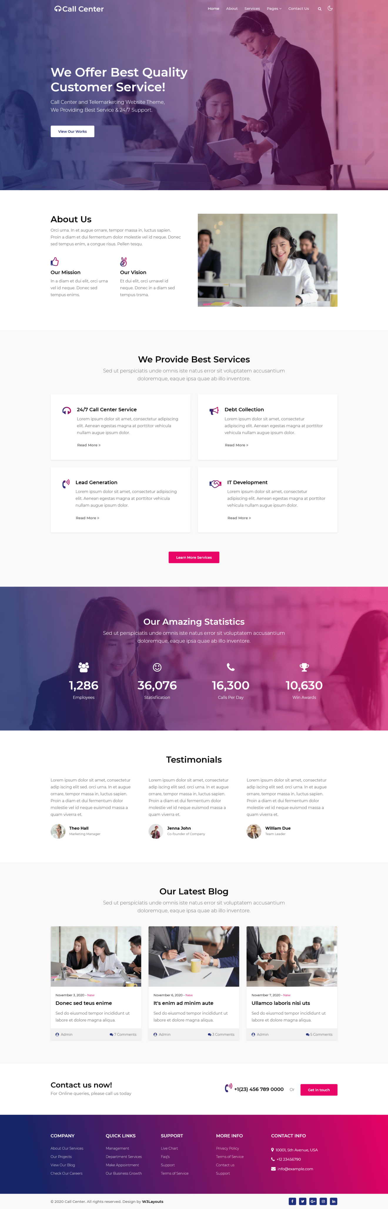 Business Website Templates Free Download - Home page